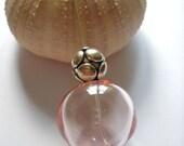 Light Pink Peach  Large Hollow Bead