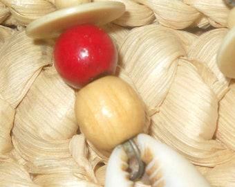 Red Bone Hair Ornament