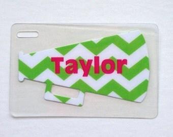 Chevron Bag Tag Cheer Camp Gifts Cheerleader Bag Tag Cheerleading Bag Tag Cheer Mom Gift