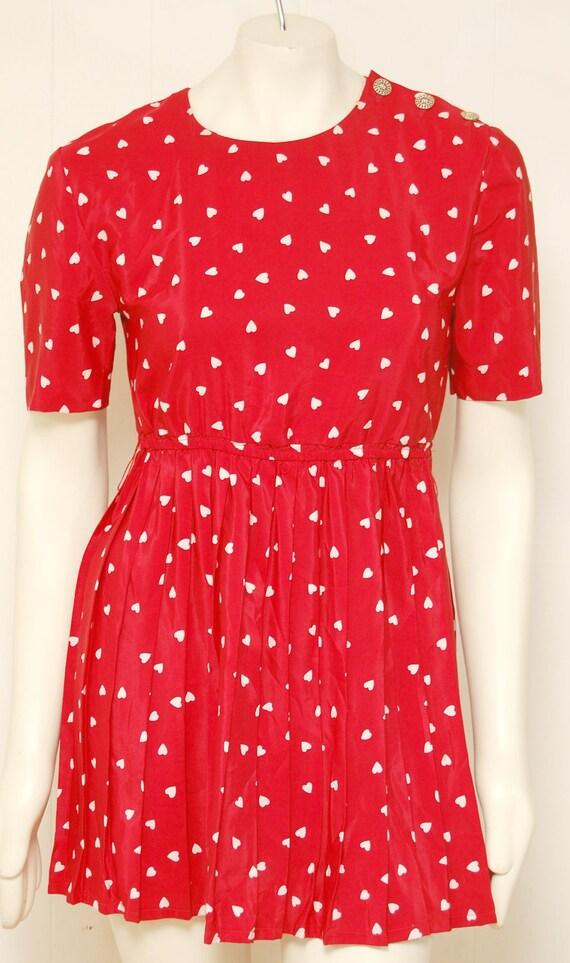 Vintage Red Heart Mini Dress