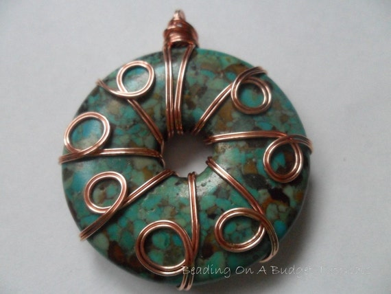 Tutorial Wire Wrapped Turquoise Donut How To Jewelry Making Lessons PDF