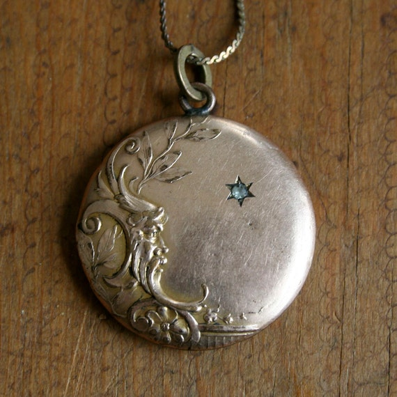 RESERVED Vintage Gold Fill Victorian Pendant