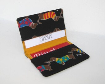 Business Card Holder. Credit Card Holder. Transit Card Holder. Bus Pass Holder. Dog Card Holder  - March of the Dachshund Dogs