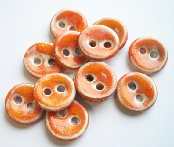 Tangerine Tango Ceramic Buttons