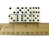 Vintage Game Dice Black and White set of 8
