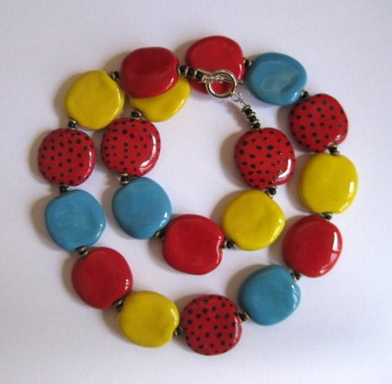 Kazuri Necklace, Beaded Necklace, Fair Trade Beads, Ceramic Beads