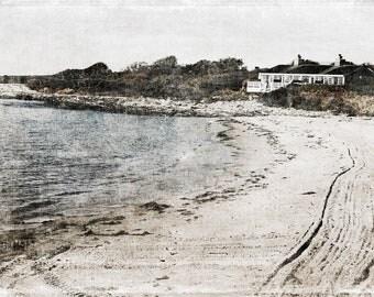 Beach Ocean Shore Photo 8x10 Print Textured Photography Beach Cottages