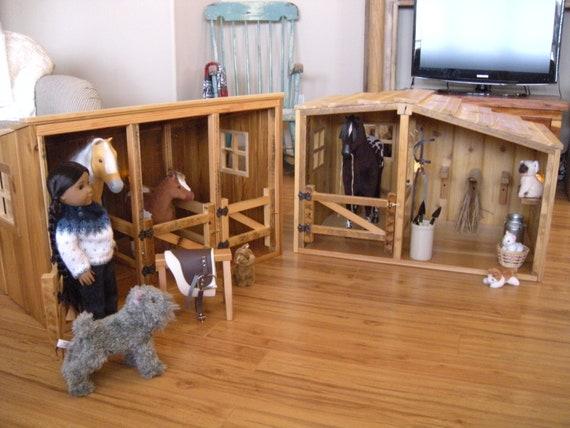 Horse Barn & Stable Set for American Girl Doll
