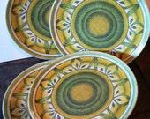 Vintage melmac kitsch ...  MELMAC Dorchester 4 MOSAIC dinner PLATES  ...