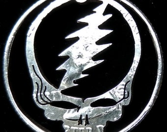 Steal Your Face Hand Cut Coin Jewelry