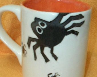 Mug with Spider Family Design