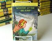 Listing PP: 1968, hard cover copy, Nancy Drew book, no. 29, Mystery at the Ski Jump, by Carolyn Keene, ski resort, girl detective