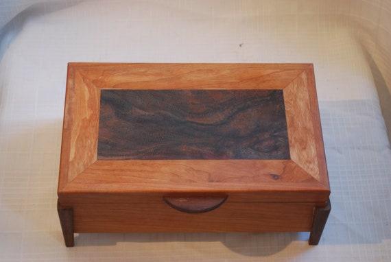 Sale Priced Cherry & Walnut Jewelry Box