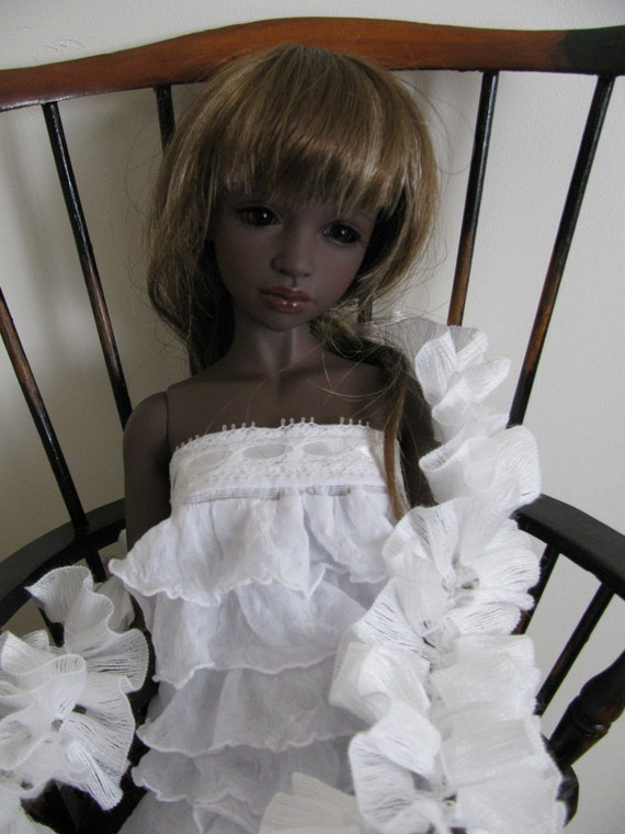 Ruffle Dress for MSD BJD's such as my Iplehouse JID Benny and similar sized BJDs Doll Clothes