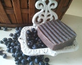 Fresh Local Blueberries &  Lemon Vegan Soap