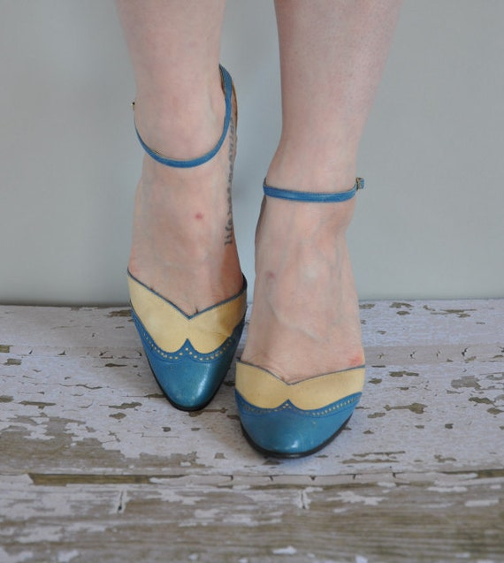 r e s e r v e d... 60s heels/ 50s/60s blue heel/ Blue Without You