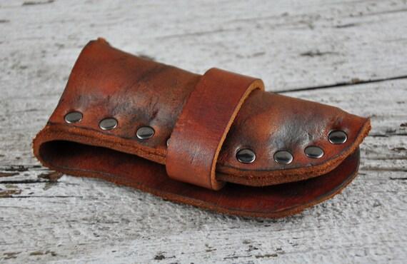 Trapperlock Rustic Leather Knife Sheath