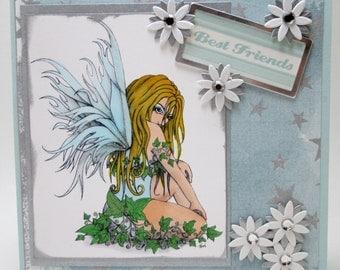 BEST FRIENDS Ivy Fairy  -  OOAK card
