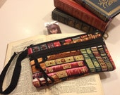 Books wristlet purse