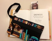 Cats & Books Wristlet purse