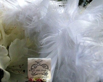 White Chandelle Mix Boa Feathers