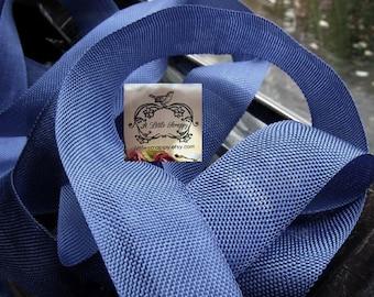 Rayon Seam Binding Ribbon Sulphur Blue