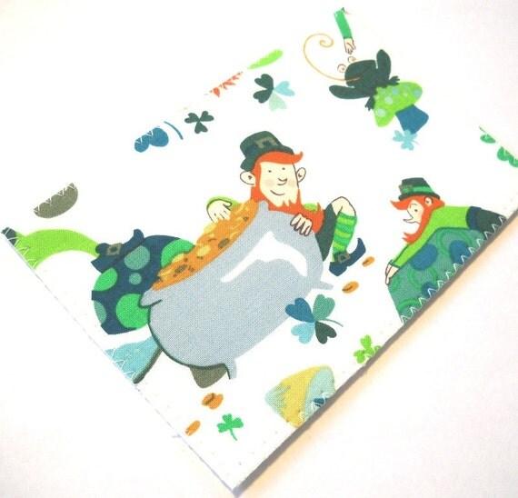 Fabric Postcard - St. Patrick's Day Leprechaun Shamrock