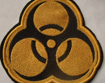 Biohazard symbol embroidered iron on patch