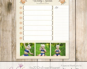 16x20 Magnet/Dry Erase Board Template - PSD - Weekly Specials Menu