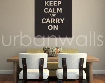 Vinyl Wall Sticker Decal Art - Keep Calm Carry On