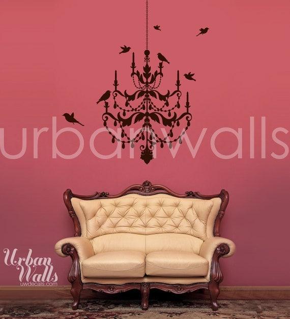 Vinyl Wall Sticker Decal Art - Chandelier Wall Decal