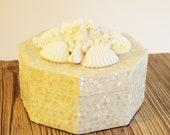 Unique Capiz Shell Box Embellished with Seashells
