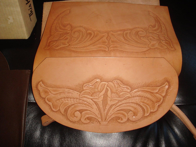 Vintage Tandy Tooled Leather Handbag Purse Kit Diy Womens