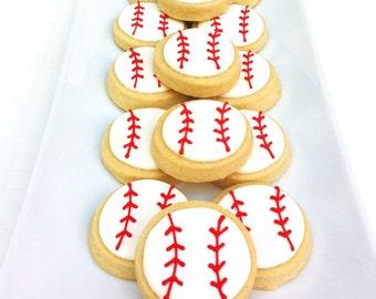 "Baseball Cookies (2 dozen 2"")"