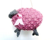 Breast Cancer Awareness Knitted Pink Sheep Fundraiser