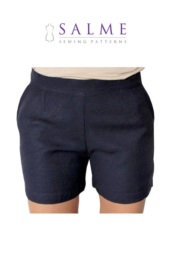 PDF Sewing pattern - Shorts with side zipper
