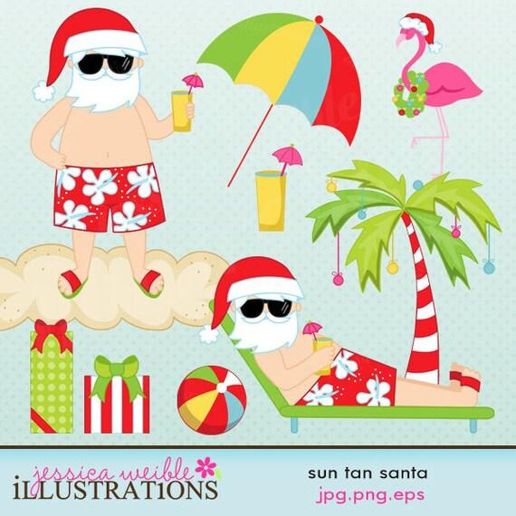 free clipart santa on the beach - photo #12