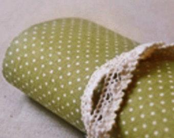 Gorgeous Linen Polka Dot Reform Fabric Sticker - Green (A4)