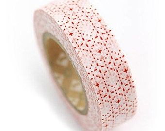Twinkle Star Red Adhesive Masking Tape (0.6in)