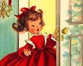 Christmas Girl Gift Tags Mini Cards Sheet of 8
