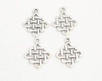 Antique Silver Metal Knots (5)