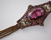 Antique Victorian Brooch. Amethyst Purple