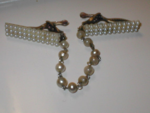 Vintage 1950s Pearl Sweater Guard Chain