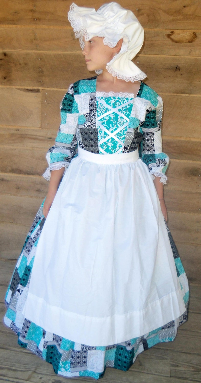 Handmade American Historical Colonial Pioneer Girl Clothing