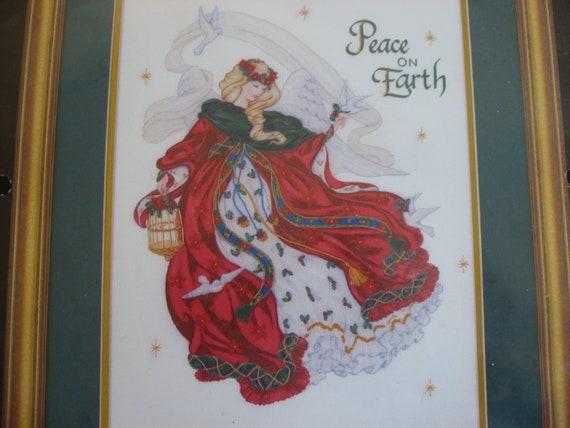 Ribbon Embroidery Kit Angel of Peace  Peace on Earth Holiday