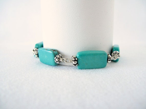 Turquoise Rectangles on your Wrist