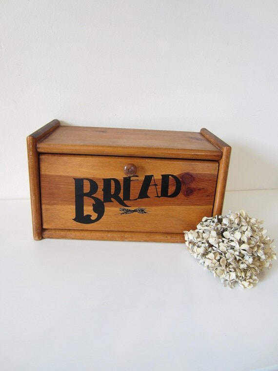 traditional wooden bread box, country kitchen decor