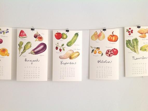 SALE 50% off: 2017 Produce Calendars