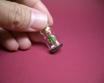 Tiny green tree and a couple  in a tiny bottle ver.3 B