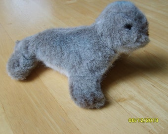 Steiff Toy, Collectible Steiff Seal, Steiff with Metal Button and YellowTag, Vintage Stuffed Toy
